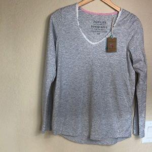 NWT Joules Lace Trim Loungewear Pajama Top